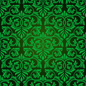 Green seamless wallpaper pattern — Stock Vector