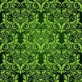 Green seamless wallpaper pattern — Vector de stock