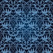 青のシームレスな壁紙パターン — ストックベクタ