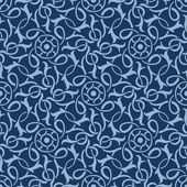 Blue seamless wallpaper pattern — Vector de stock