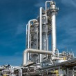 Royalty-Free Stock Photo: View gas processing factory.