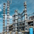 Foto Stock: View gas processing factory.