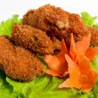 Battered chicken wings on a plate — Stock Photo