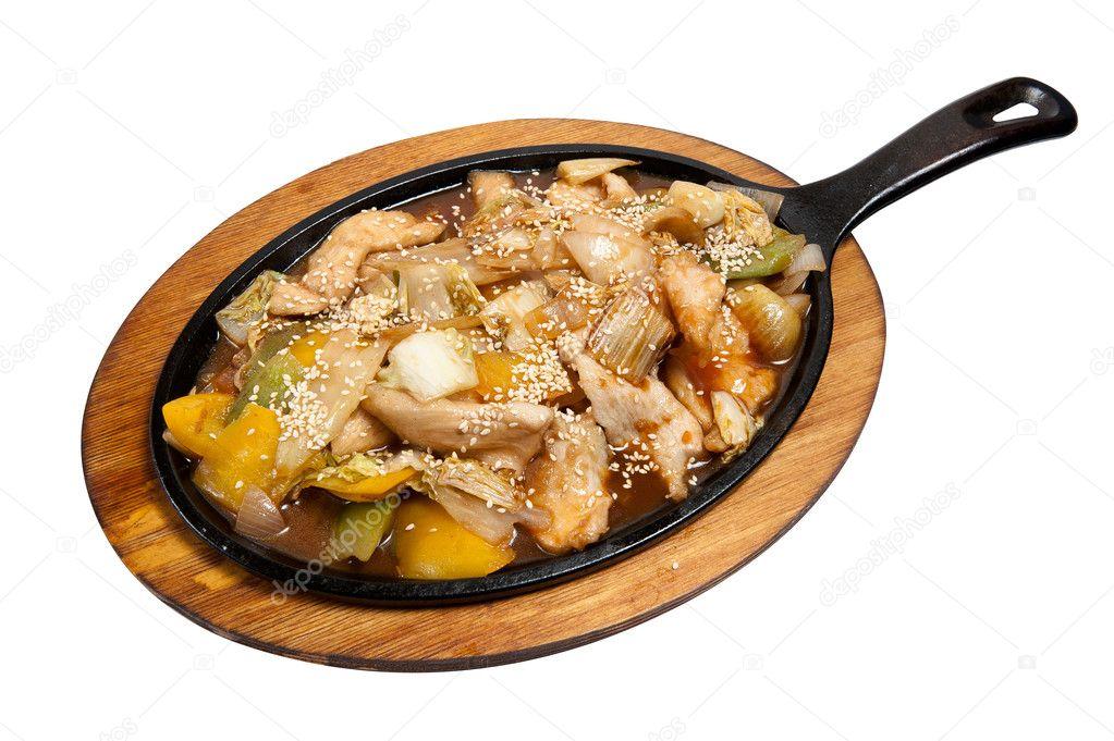 мясо курицы на сковороде рецепт с фото