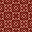 Red seamless wallpaper pattern — Stock Vector #6656876
