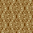 Brown seamless wallpaper pattern — Stock vektor