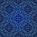 Blue seamless wallpaper pattern — Stock Vector #6656885