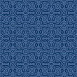 Blue seamless wallpaper pattern — Stock Vector #6656935