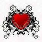 Valentine ornamental heart — Stock Vector