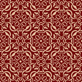 Red seamless wallpaper pattern — Wektor stockowy