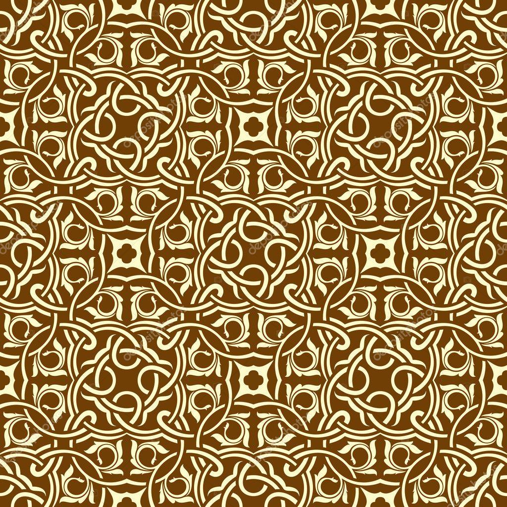 Nahtlose tapete braun muster stockvektor zybr78 6656894 for Tapete muster braun