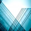 Modern glass skyscraper perspective view — Stock Photo #5459068