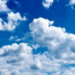 Beautiful blue-sky with clouds — Stock Photo