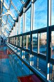 Interior del corredor azul — Foto de Stock
