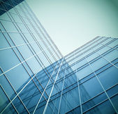 Glass building perspective view — Stockfoto