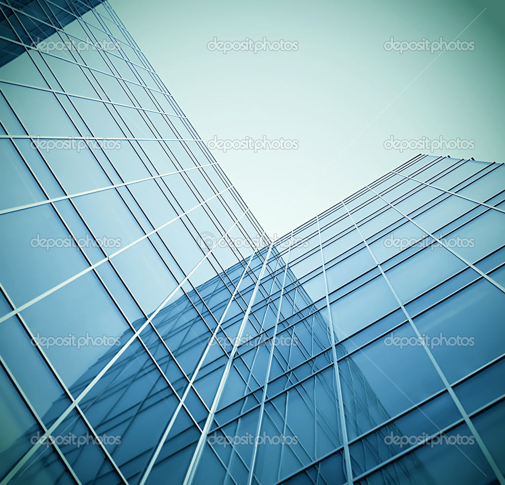 Glass building perspective view  Stock Photo #5467479