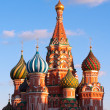 Cathedral of Vasily the Blessed in Moscow — Stock Photo
