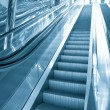 Elevated escalator in airport — Stock Photo