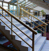 Modern stair inside office centre — Stock Photo