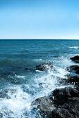 Splash of turquoise waves — Stock Photo