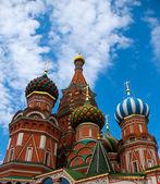 La catedral de san basilio, plaza roja, moscú, rusia — Foto de Stock