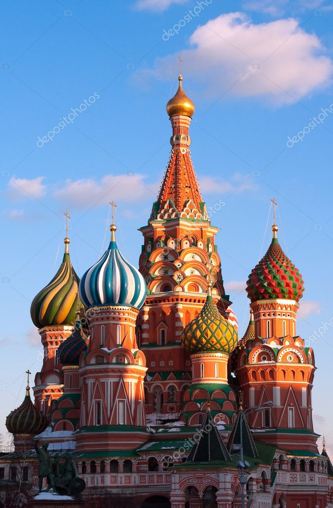 Cathedral of Vasily the Blessed in Moscow — Stock Photo #5474004