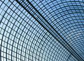 New ceiling inside light metro station — Stock Photo