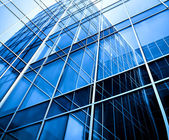 Modern glass business center — Stock Photo