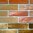 Grunge colored brick-wall texture of fireplace — Stock Photo