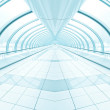 Royalty-Free Stock Photo: Light blue spacious corridor