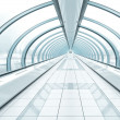 Royalty-Free Stock Photo: Wide spacious corridor in contemporary airport walkway