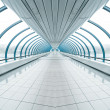 Stock Photo: Spacious diminishing transparent hallway
