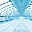 Stock Photo: Symmetric modern hall inside airport