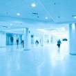 Hallway in airport, moving — Stock Photo #6711380