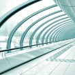 Stok fotoğraf: Glazed corridor in office center
