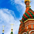 Cathedral of Vasily the Blessed on Red Square Moscow Russia — Stock Photo #6711514