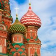 St. Basil's Cathedral on Red square, Moscow, Russia - Stock Photo