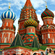 Saint Basil's Cathedral in Moscow - 图库照片