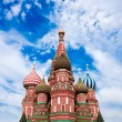 Domes of the famous Head of St. Basil's Cathedral on Red square, - Zdjęcie stockowe