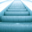 Modern steps of moving business escalator — Stock Photo #6712077