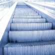 Motion of vanishing escalator — Stock Photo