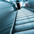 Diminishing escalator in metro — Stock Photo