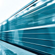 Fast moving train — Stockfoto