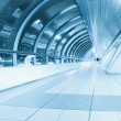 Endless corridor in airport — Stock Photo #6712481