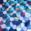 Stock Photo: Background of compact discs