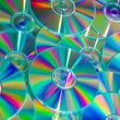 Stock Photo: Empty compact colorful discs