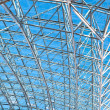 Transparent ceiling inside contemporary airport — Stock Photo