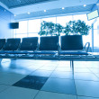 Contemporary blue lounge with seats in the airport — Stock Photo #6712961