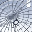 Metal gray round ceiling — Stock Photo