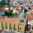 View over the red european roofs — Stok fotoğraf